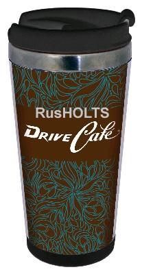 DRIVE CAFE Термокружка 350мл, пластик, blue