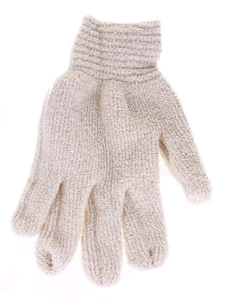 Перчатки х/б махровые двойной вязки (2 пары)