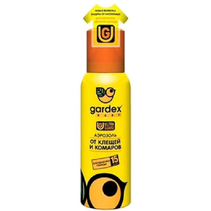 Gardex Baby Детский аэрозоль на одежду от клещей и комаров, 100мл