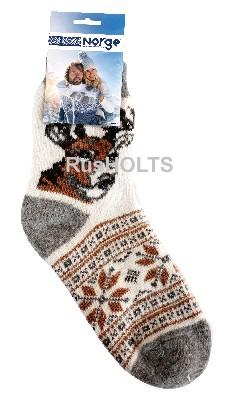 Носки мужские из пряжи, Олень