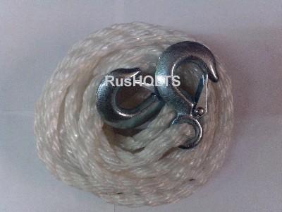 Бурлак Трос буксировочный с крюками 4500 кг, белый