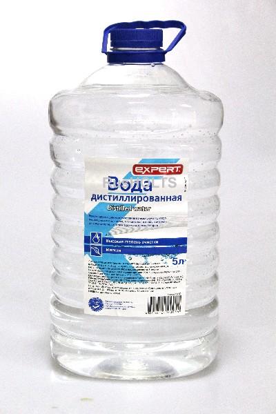 EXPERT Дистиллированная вода  5л ТУ