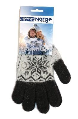 Перчатки женские трикотажные, Снежинка