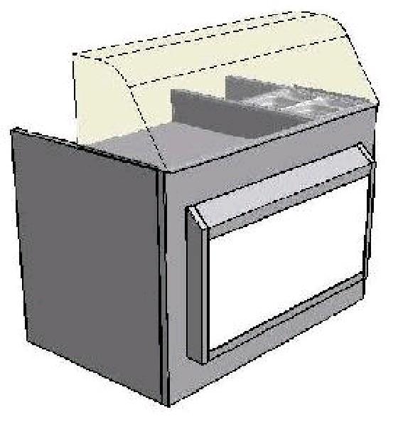 Стойка-витрина холодильная VITRUM HD-1150
