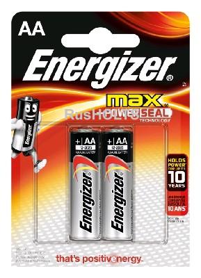 Energizer Батарейки алкалиновые Max AA 2шт.
