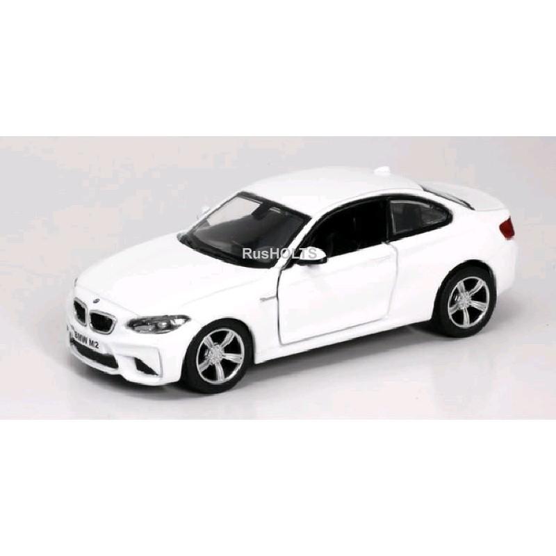 Игр.модель 1:32 BMW M2 COUPE, инерционная, цвет: синий/белый