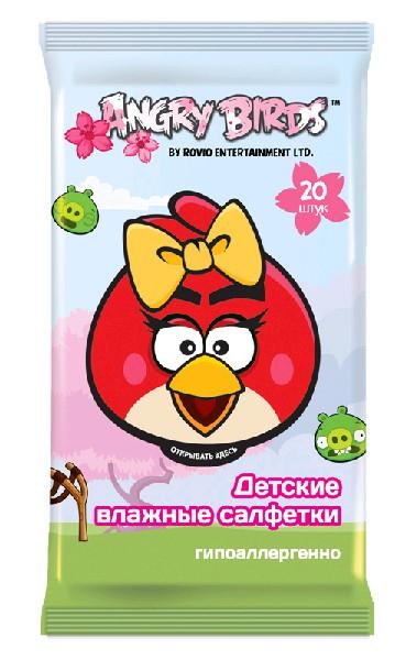 Angry Birds Влажные детские салфетки (девочка, мальчик) 20 шт.