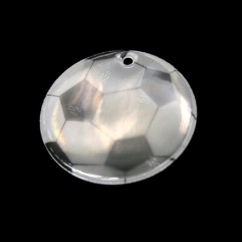 """Световозвращатель подвесной """"Футбольный мяч"""" 50 мм"""
