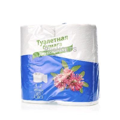 Day Spa Туалетная бумага 2сл., белая, 4 шт.