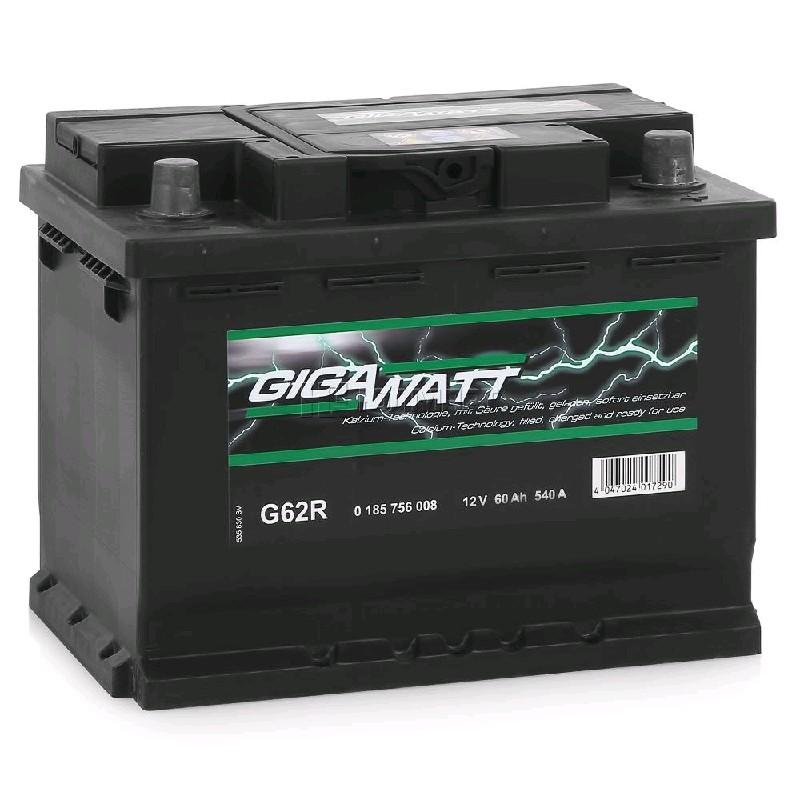 GIGAWATT Аккумулятор 60 А*Ч G62R/560 408 054