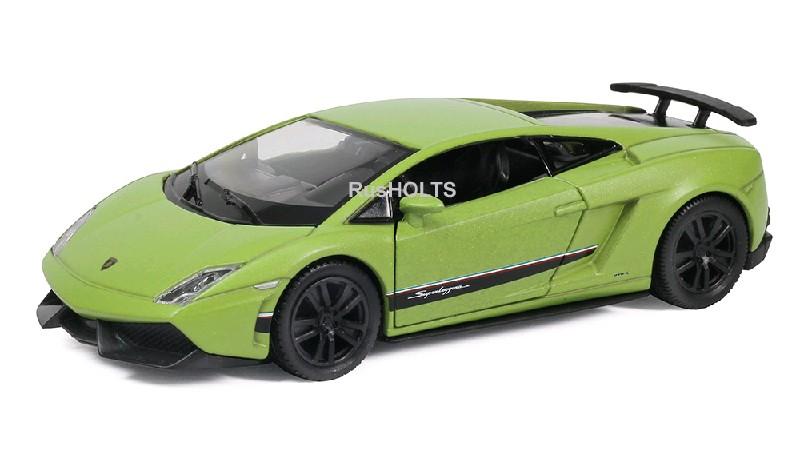 Игр.модель 1:32 Lamborghini Gallardo, инерционная, цвета: зеленый матовый