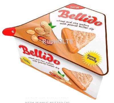 BELLIDO Пшенично-рисовые вафли с кремом на основе арахиса