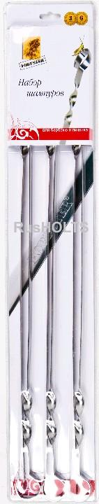 FORESTER Набор 6 шт. шампуров 60 см, блистер RZ-60DB