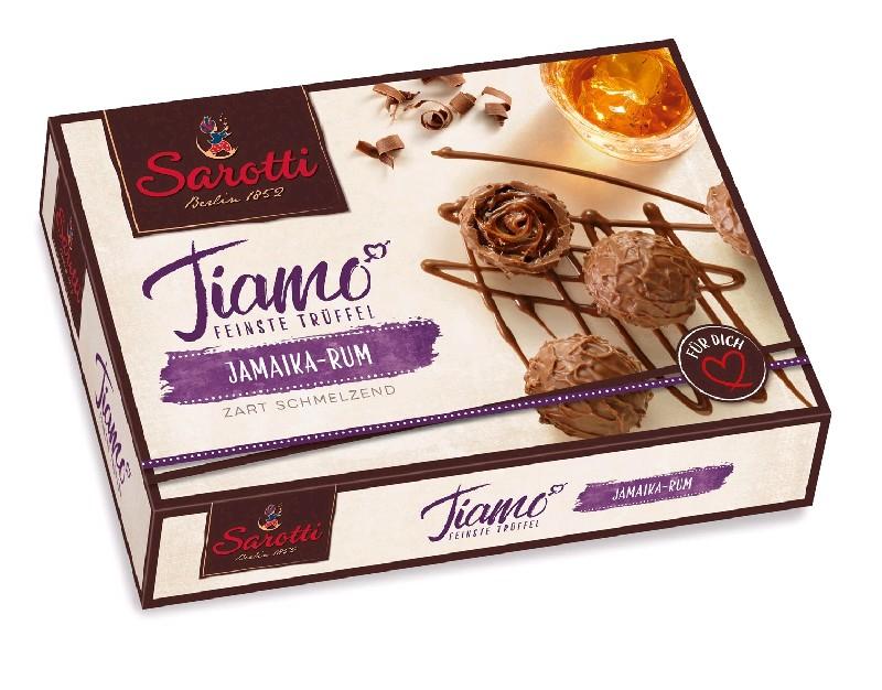 SAROTTI Шок.конфеты, Tiamo Rum  125 гр (5 шт в кор)