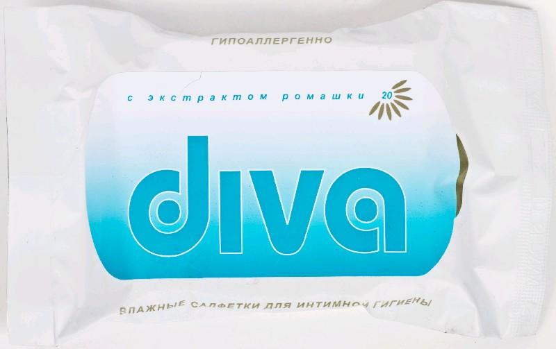 DIVA 20  Влажные салфетки  для интимной гигиены