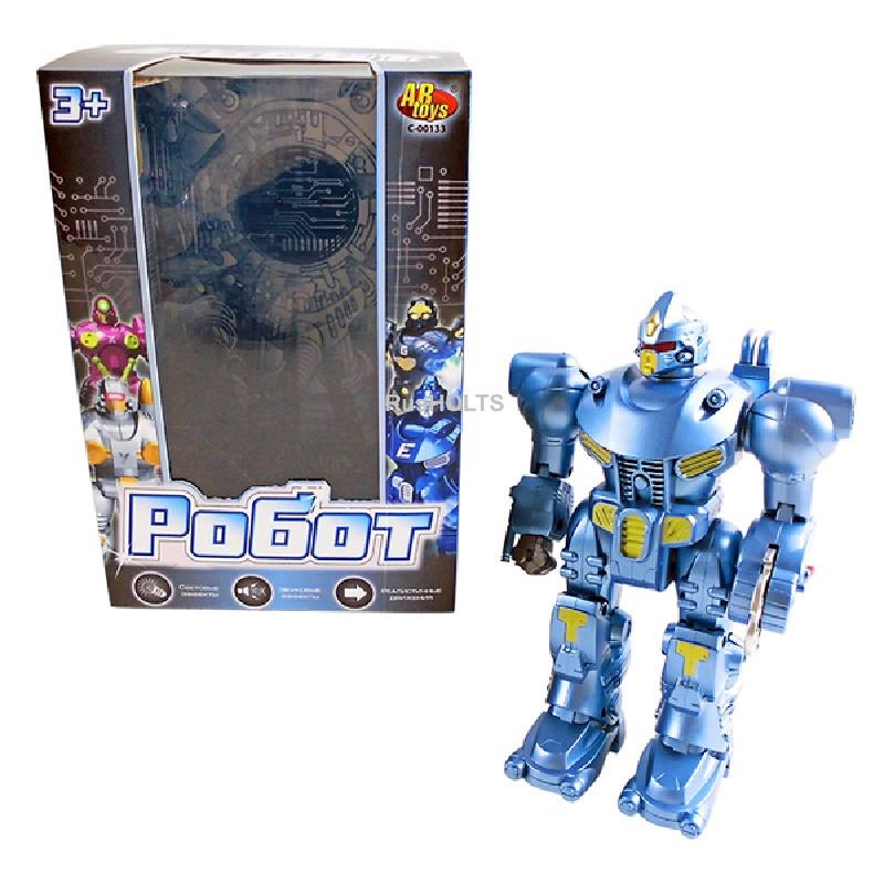 Робот эл/мех. со звуковыми и световыми эффектами, в асс.