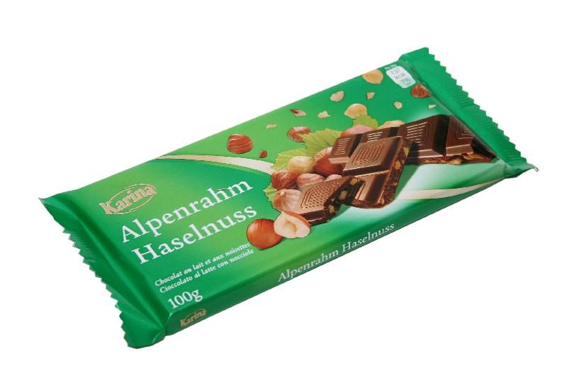 KARINA Шоколад мол. дробленный орех 100 гр (39 шт в кор)