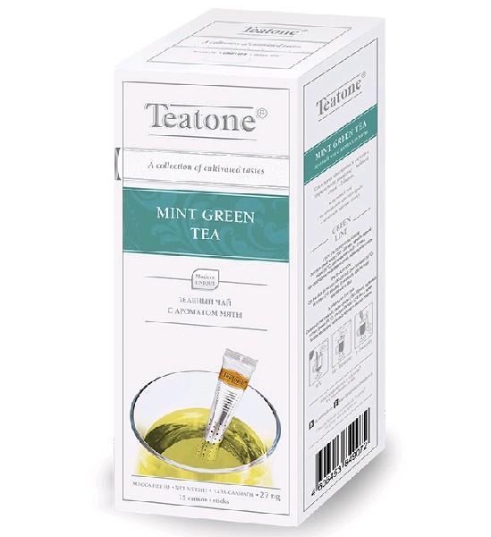 TEATONE Чай зеленый с ароматом мяты