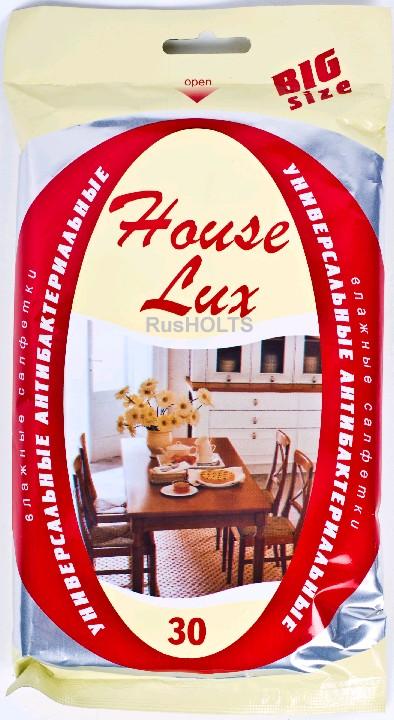 House Lux Влажные салфетки универсальные (антибактериальные)Big Size, 30 шт.