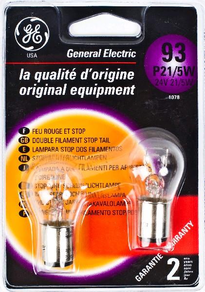 Лампа GE, P21/5W 24V 70W, BAY15d (бл. 2шт)