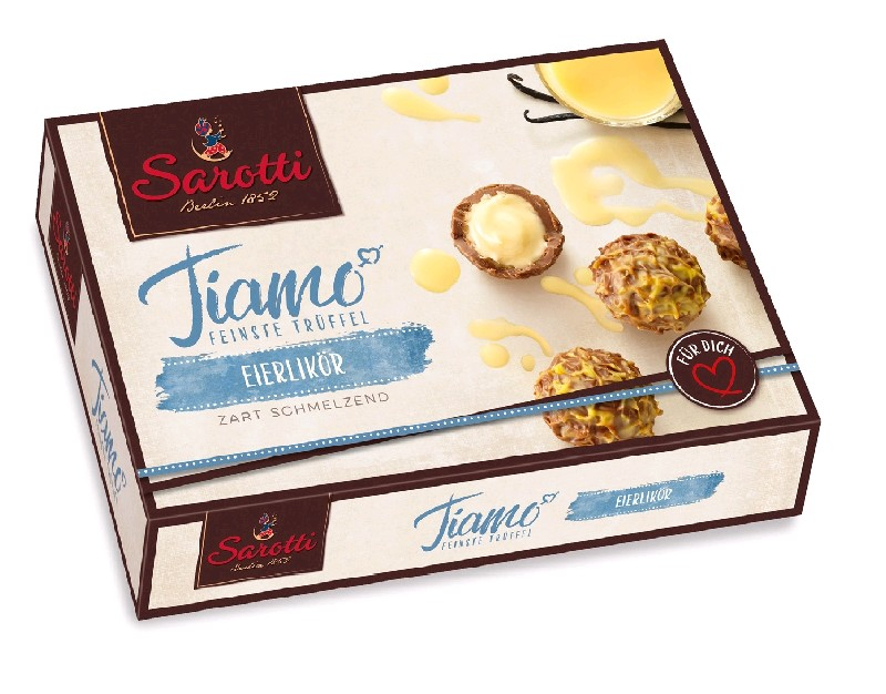 SAROTTI Шок.конфеты, Tiamo Eierlikor  125 гр (5 шт в кор)