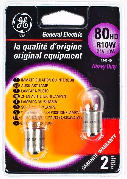 Лампа GE, R10W 24V  BA15s, (бл. 2 шт.)