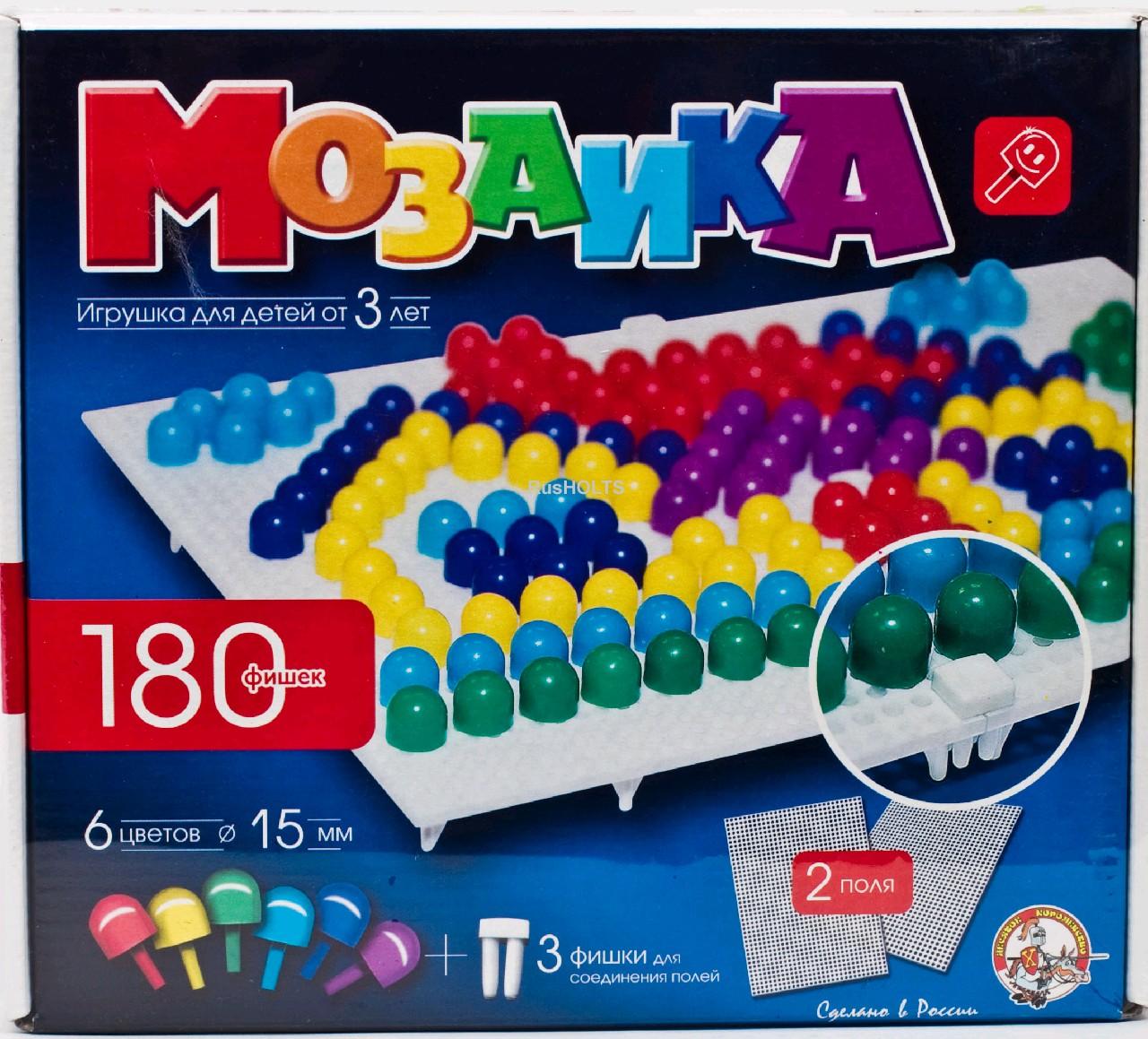 """Настольная игра """"Мозаика"""", 180 шт"""