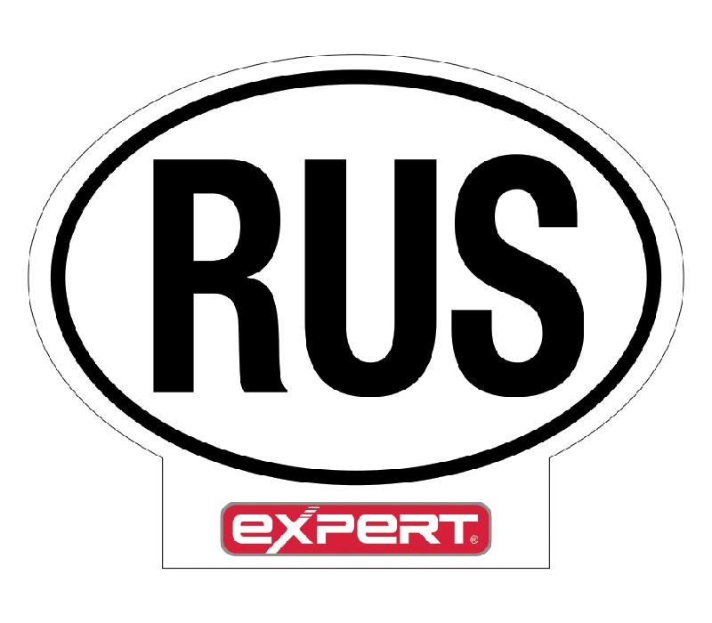 "EXPERT Знак ""РУС"", наклейка"