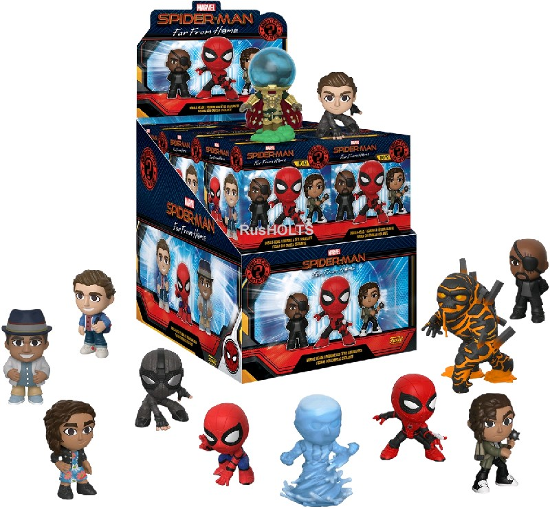 Funko Фигурка Mystery Minis:  Marvel: Spider-Man: Far From Home: 12PC PDQ  39351