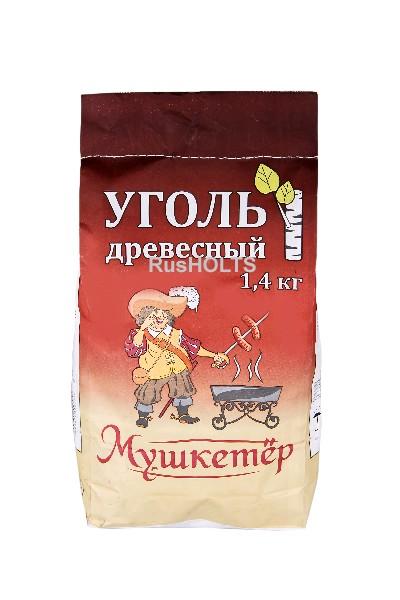 МУШКЕТЁР Уголь древесный 1,4кг