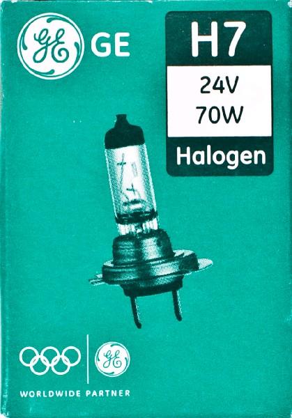 Лампа GE, H7 24V 70W PX26d (картон 10шт)