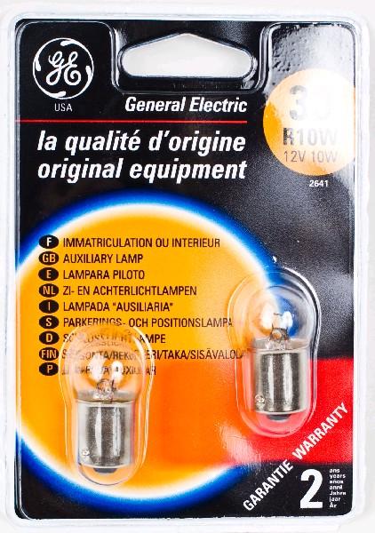 Лампа GE, R10W, 12V,  (бл. 2 шт) 17134