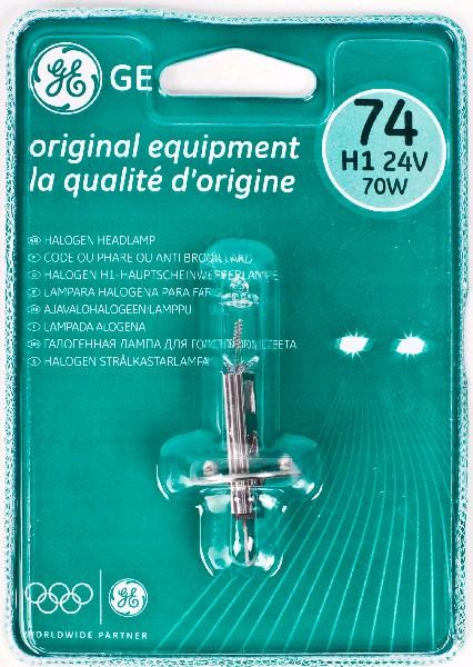 Лампа GE, H1 24V 70W, P14,5s, (бл 1шт)